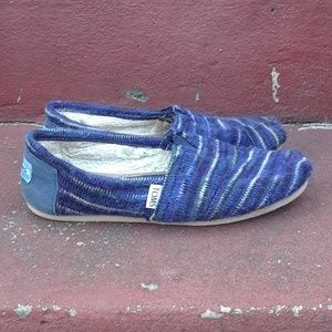 Toms Blue Woven Wool